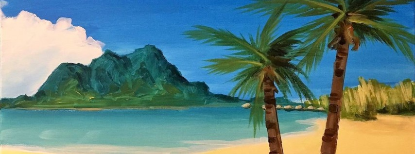 Wine & Canvas Painting Class: Paradise