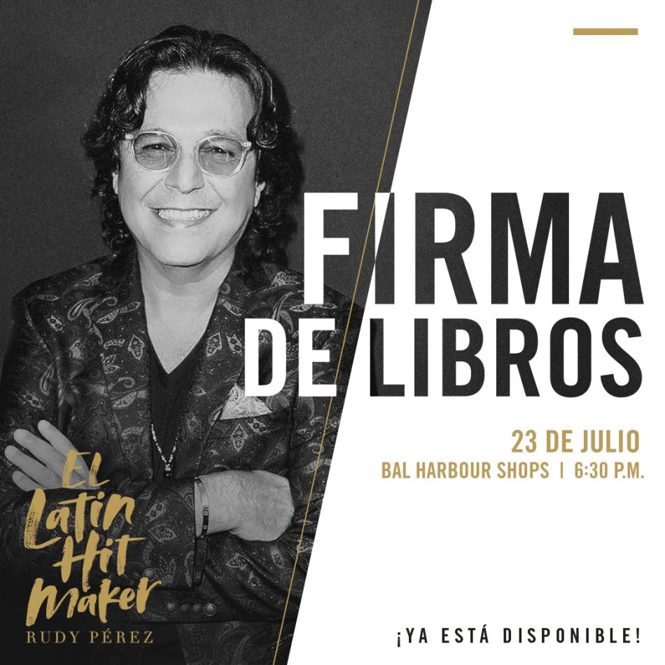 Rudy Pérez firmas de libros 23-24 de julio.