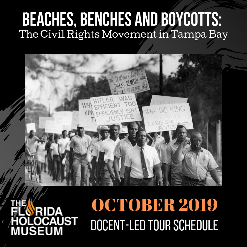Beaches, Benches, and Boycotts Docent Lead Afternoon Tour 10/27/2019