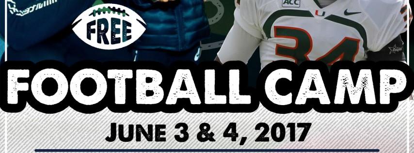 Jabaal Sheard and Thurston Armbrister Free Football Camp 2018