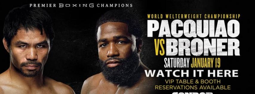 Watch Pacquiao vs Broner at Condor SF