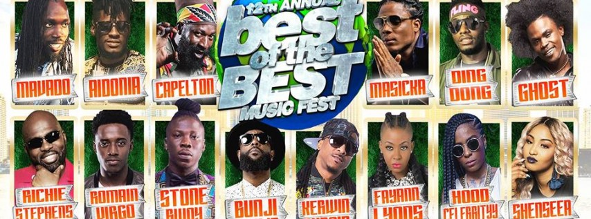12th Annual Best of the Best Music Fest - 100% Caribbean Concert