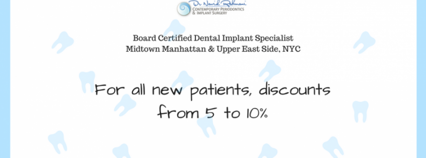 Discount from NYC Dental Implants Center