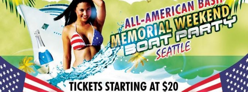 All American Bash Memorial Weekend Boat Party 2018
