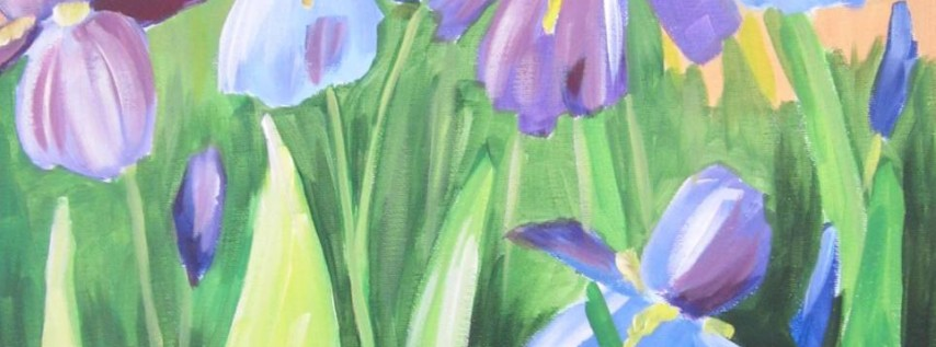 Wine & Canvas Painting Class: Blue Iris