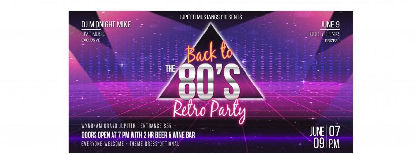 Jupiter Mustangs 80's Retro Party
