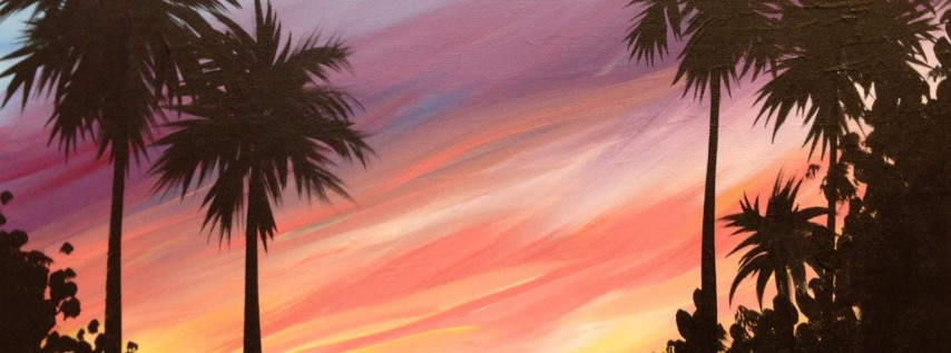 Summer Sunset Paint Party