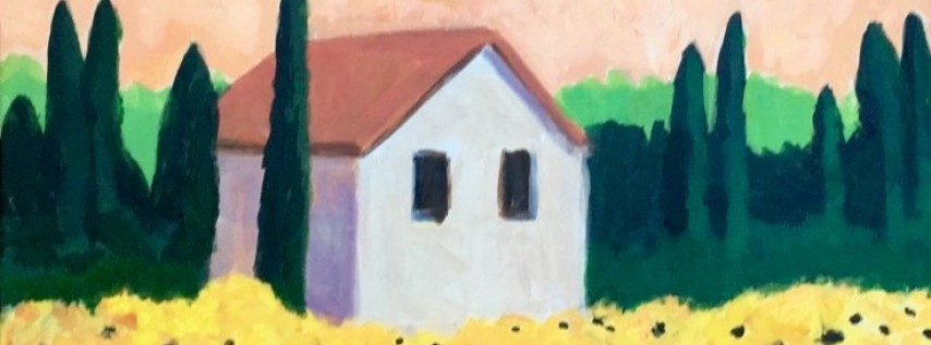 Wine & Canvas Painting Class: Sunflowers in Tuscany