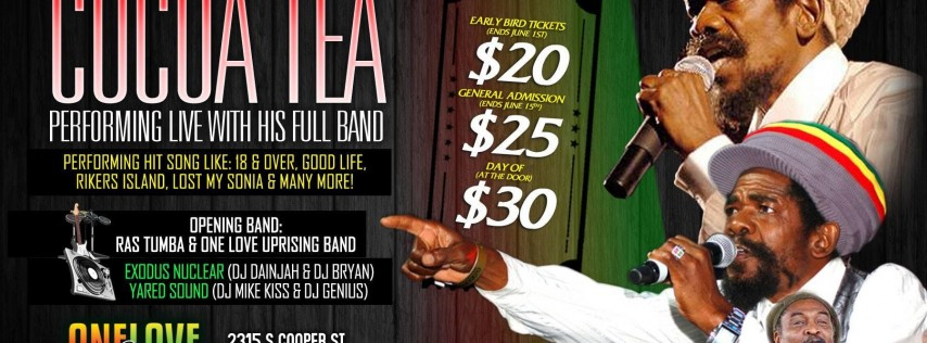 Cocoa Tea & Band LIVE In Concert!