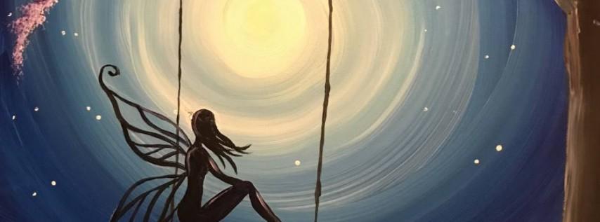 Wine & Canvas Painting Class: Moon Fairy