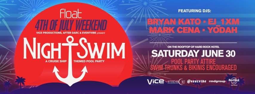 Night Swim Pool Party at Hard Rock Hotel - Pre-4th of July Weekend