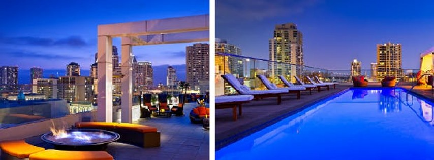 July 4th Weekend At The Andaz Hotel Night Pool Party - Phitecolla