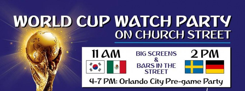 World Cup Watch Party on Church Street