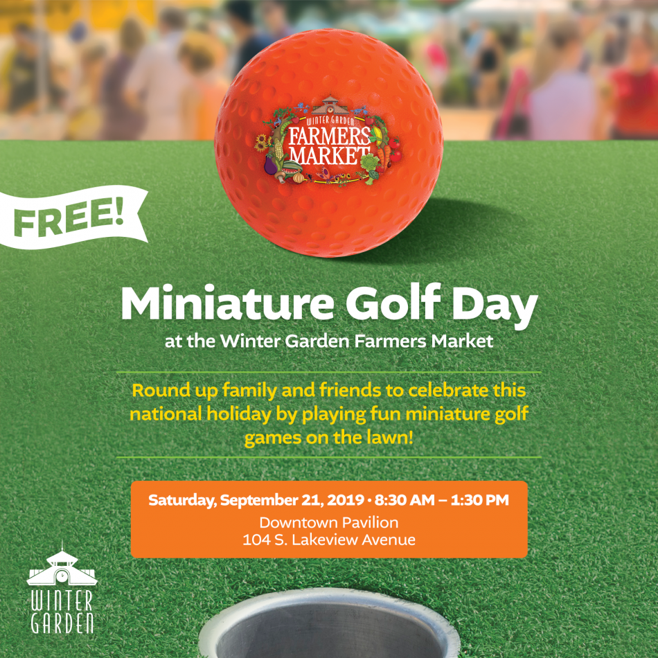 Miniature Golf Day at Winter Garden Farmers Market