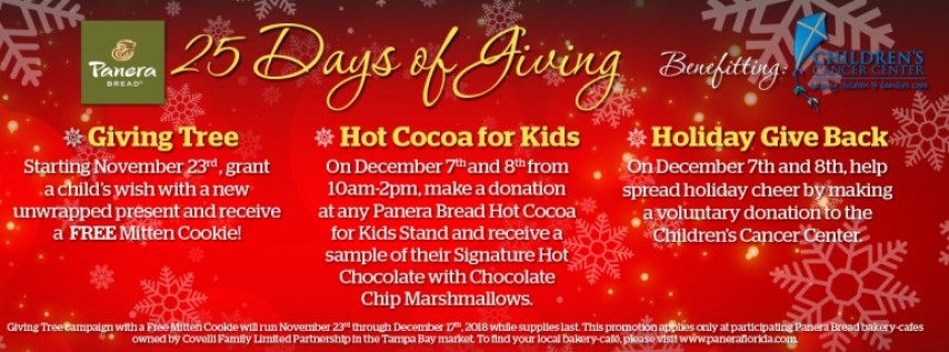 Panera Bread's 25 Days of Giving!