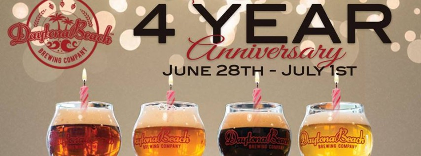 Daytona Beach Brewing's 4 Year Anniversary Party