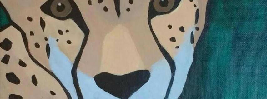 Wine & Canvas: Meet a Cheetah! Paint a Cheetah!