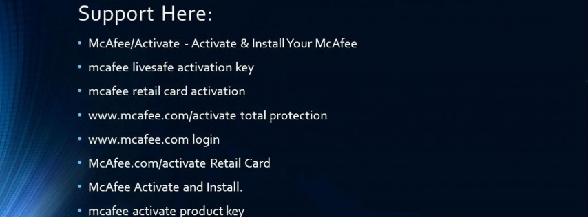 mcafee.com/activate - Download and Activate McAfee Online