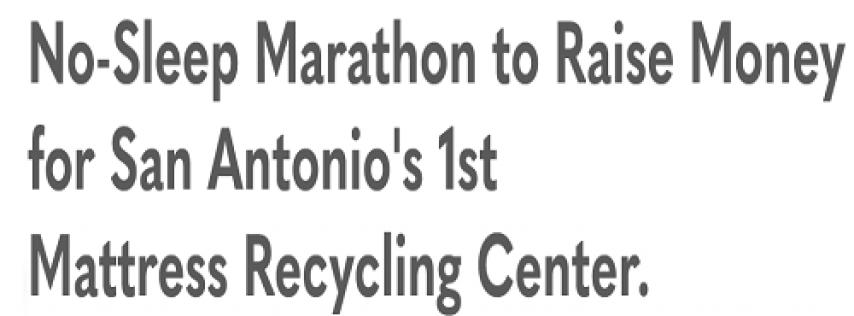 Mattress Recycling Live-Stream Fundraiser