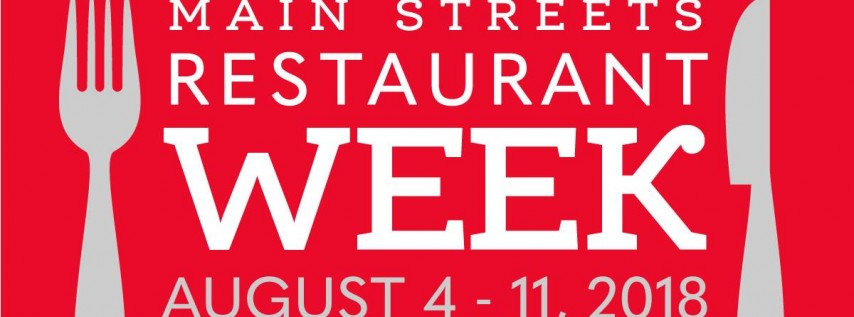 Main Streets Restaurant Week 2018
