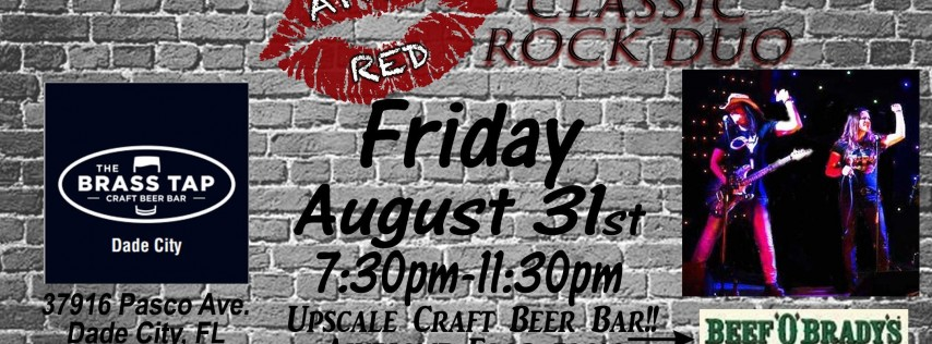 April Red is BACK at The Brass Tap in Dade City!