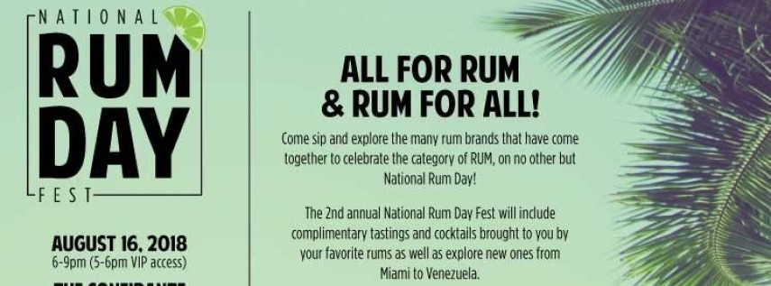 National Rum Day Fest 2018