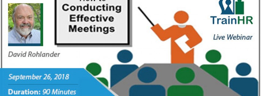 Webinar on How to Conduct Effective Meetings