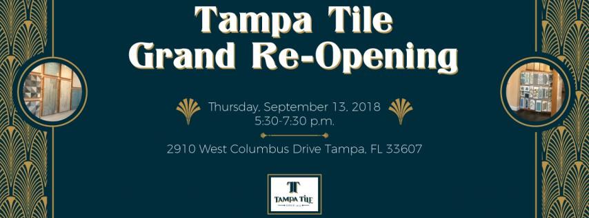 Tampa Tile Grand Showroom Re Opening Tampa Fl Sep 13