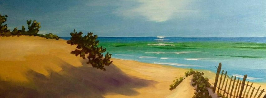 Wine & Canvas Painting Class: Peaceful Dunes
