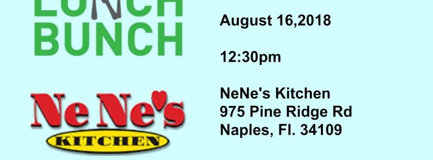 Lunch Bunch at Ne Ne's