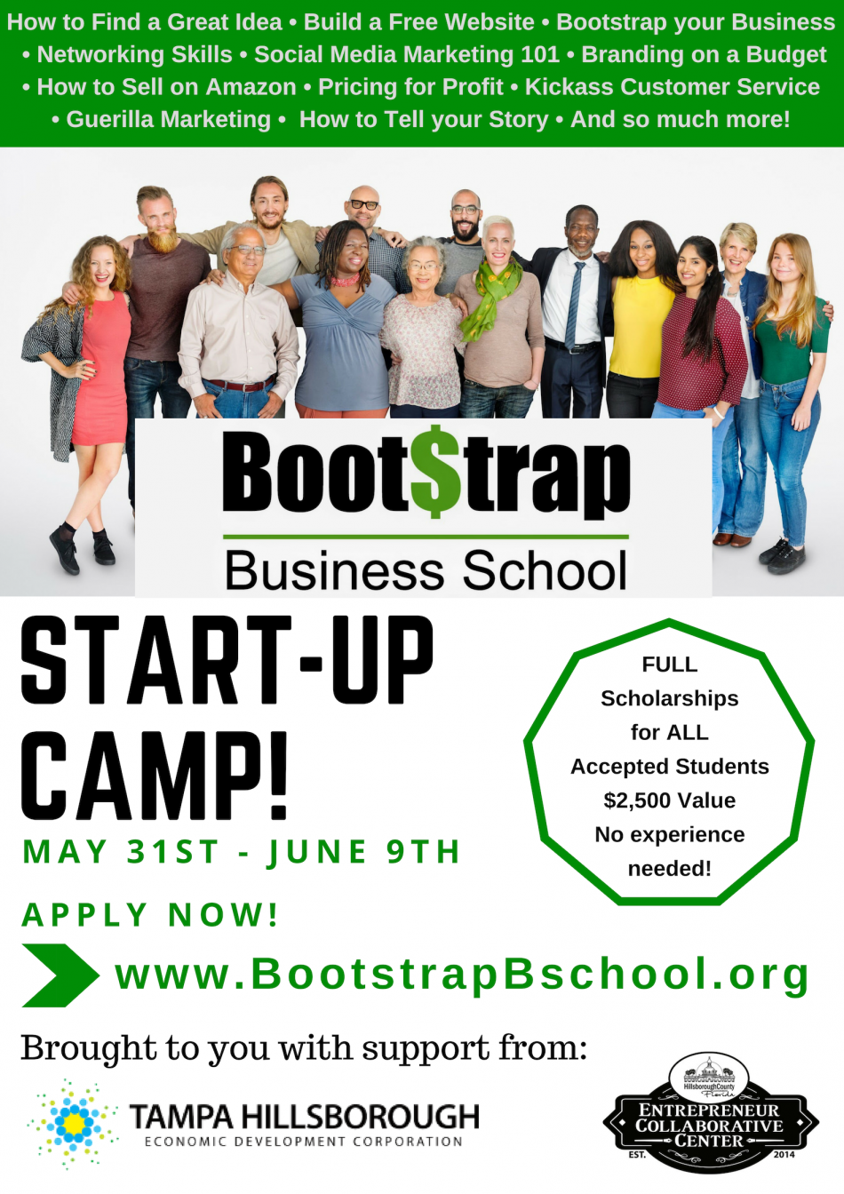 Bootstrap Business School START-UP CAMP!