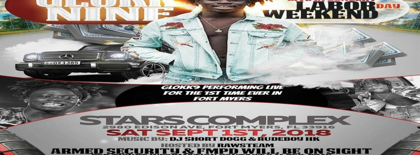 GlokkNine All Ages Labor Day Bash In Ft Myers Florida