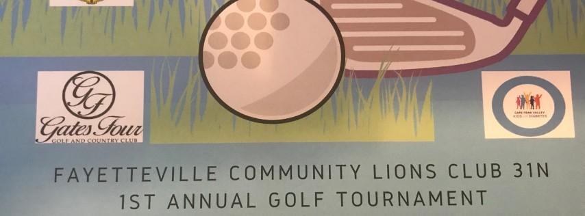 Fayetteville Community Lions Club 1st Annual Golf Tournament