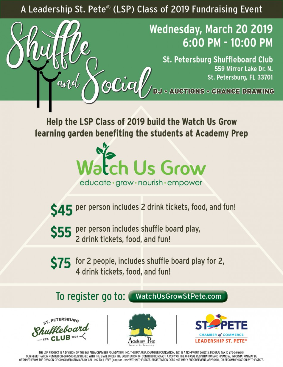 Shuffle and Social - A Leadership St. Pete Class of 2019 Fundraising Event