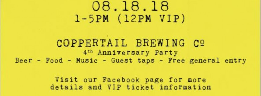 Coppertail Brewing Co. 4th Anniversary Party