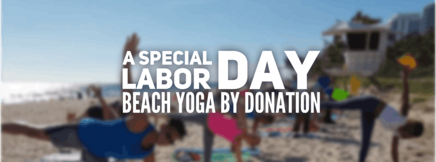 Labor Day Beach Yoga by Donation