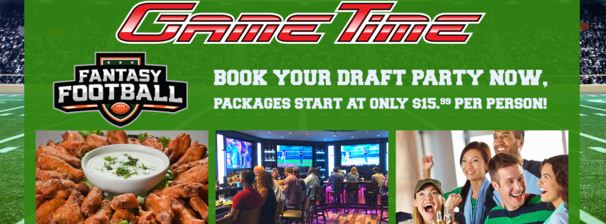Fantasy Draft Party Package with Draft Kit at GameTime Miami!