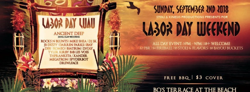 Labor Day Luau at Bo's Terrace - Sunday, 09.02.18