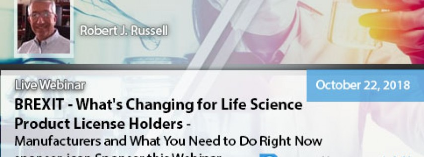 What's Changing for Life Science Product License Holders (BREXIT)