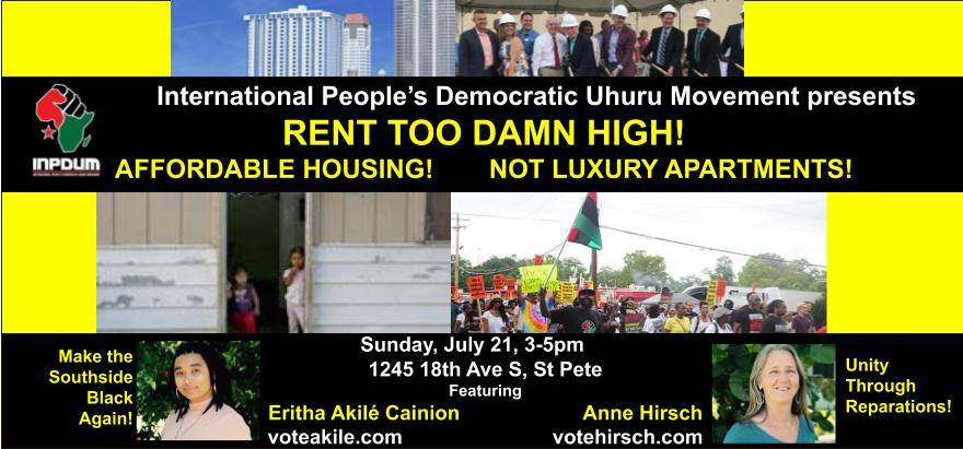 Rent too damn high! Affordable housing not luxury apartments!