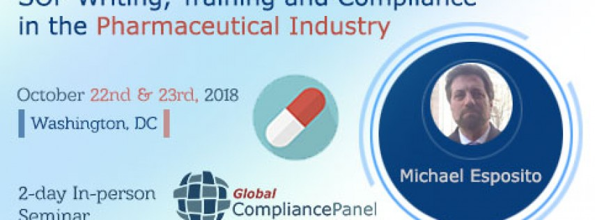 SOP Writing, Training and Compliance in the Pharmaceutical Industry