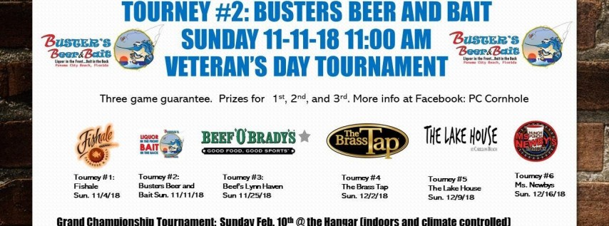 Bay County Cornhole Tournament #2: Busters Beer and Bait