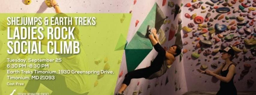 SheJumps & Earth Treks Ladies Rock Social Climb