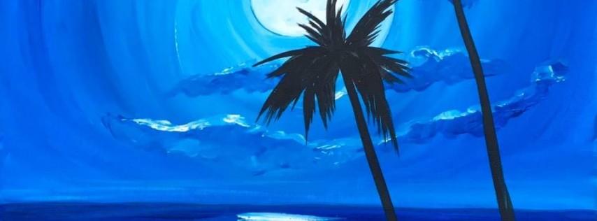 Wine & Canvas Painting Class: Moonlight Beach