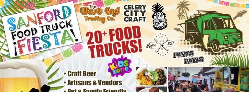 Sanford Food Truck Fiesta in Beautiful Historic Downtown Sanford