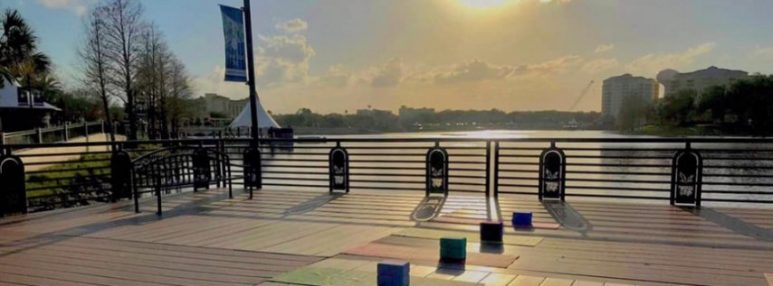 Sunset Yoga on the Dock at Cranes Roost