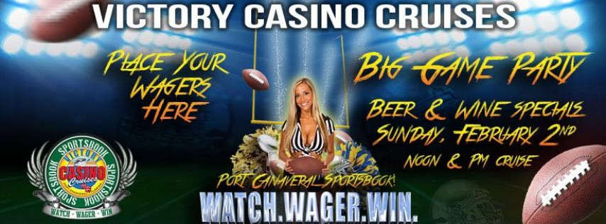 Big Game Specials on Victory Casino Cruises!