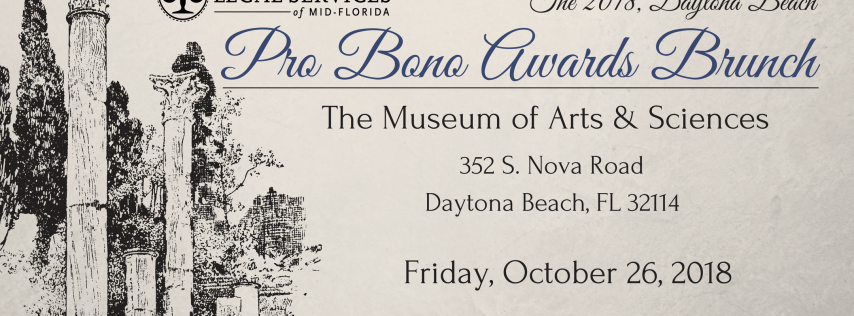 Volusia-Flagler Pro Bono Awards Brunch 2018