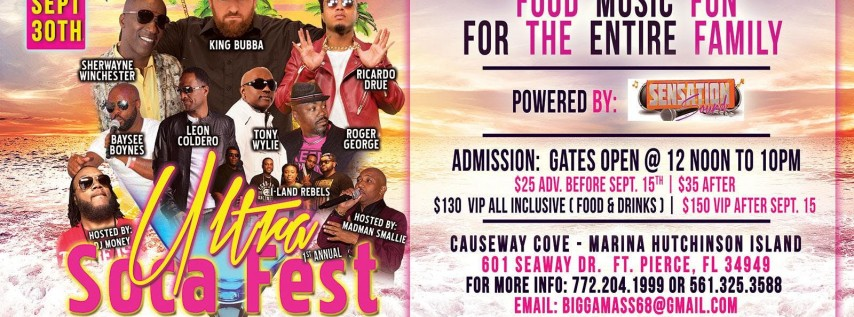 Ultra Soca Fest Sunday Sept 30 2018 Ft Pierce FL