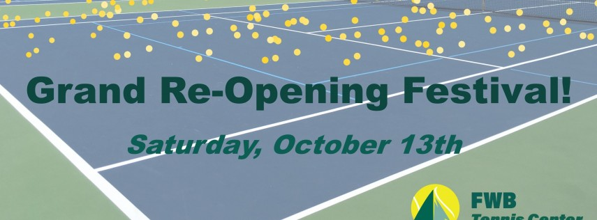 FREE Fort Walton Beach Tennis Center Grand Re-Opening Festival